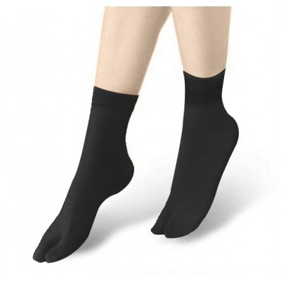 2 Toe Lady Sock- Black